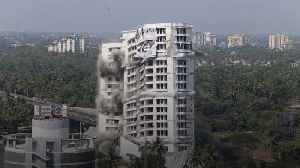 Luxury high-rise apartments demolished in India