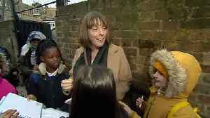 Labour leadership candidate Jess Phillips visits school [Video]