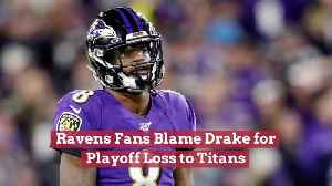 Ravens Fans Are Not Pleased With Drake [Video]