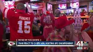 Chiefs fans react with 'high emotions' to win over Texans [Video]