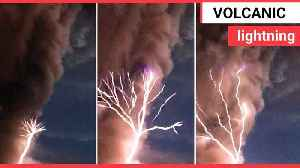 Video shows super rare volcanic lightning caused by the eruption of volcano [Video]