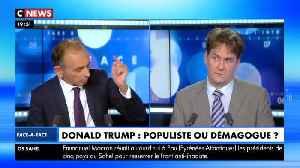 Eric Zemmour VS Jean-Éric Branaa sur Donald Trump (Face à l'Info 13/01/2020) [Video]