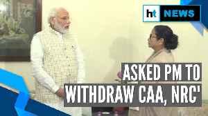 Mamata Banerjee meets PM Modi, says she asked for CAA, NRC's withdrawal [Video]