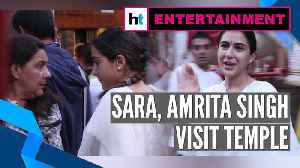 Watch: Sara Ali Khan visits temple with mother Amrita Singh in Mumbai [Video]