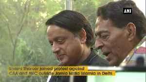 News video: Shahi Tharoor joins protest against CAA, NRC at Jamia Milia Islamia