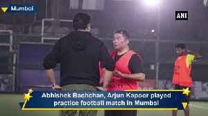 Abhishek Bachchan Arjun Kapoor play football match in Mumbai [Video]