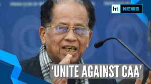 Tarun Gogoi calls for unity against CAA; rejects reports of floating new party [Video]