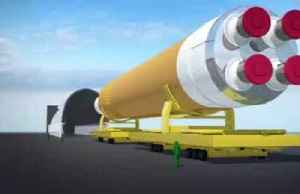 NASA rolls out space launch system booster for testing [Video]