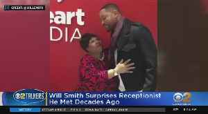 Will Smith Surprises Retiring Receptionist [Video]