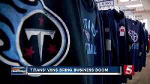 Titans' success means big business for Nashville shops [Video]