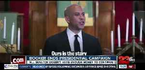News video: Cory Booker ends presidential campaign