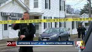 News video: Police seek suspect who shot at officer in North College Hill