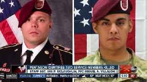 News video: Pentagon identifies two service members killed in Afghanistan
