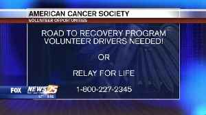 American Cancer Society call for volunteers [Video]