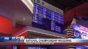 National Championship wagering at the Scarlet Pearl Sportsbook [Video]