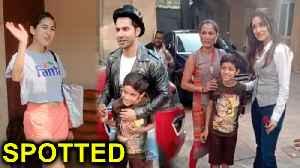 Sara Ali Khan's SWEET Gesture, Varun Dhawan & Shraddha Kapoor PROMOTE Street Dancer 3D | SPOTTED [Video]