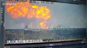 News video: Dramatic moment massive fireball breaks out of Chinese chemical factory during huge explosion