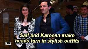 Saif and Kareena make heads turn in stylish outfits [Video]