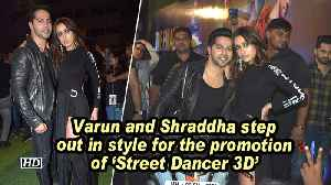 Varun and Shraddha step out in style for the promotion of 'Street Dancer 3D' [Video]