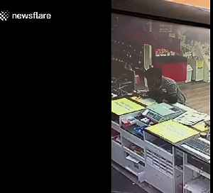 Man in Australia jumps counter to steal employees wallet [Video]