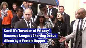 Cardi B's 'Invasion of Privacy' Becomes Longest Charting Debut Album by a Female Rapper [Video]
