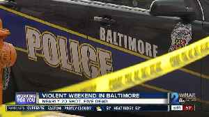 Five dead, seven hurt in eight Saturday shootings in Baltimore [Video]