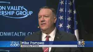 News video: Protesters Greet Secretary Of State Pompeo At San Francisco Speaking Engagement