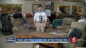 Customers score free furniture after Titans' win [Video]
