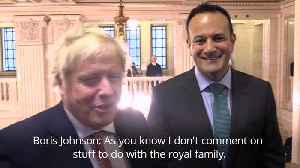 Boris Johnson dodges question about royal family [Video]