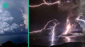 Volcano Causes Rare Volcanic Lightning In The Philippines [Video]