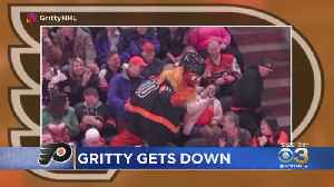 Watch: Gritty Does Cha-Cha Slide In Latest Social Media Video [Video]