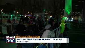 Line grows outside Panther Arena in anticipation of President Trump's arrival [Video]