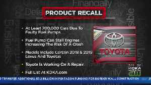 Toyota Recalling Thousands Of Vehicles [Video]