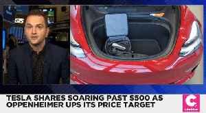 Tesla Shares Soared Past $500 [Video]