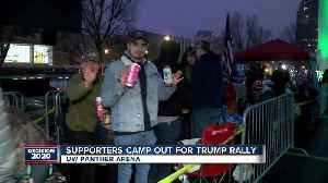 News video: Trump supporters wait in line overnight ahead of campaign rally