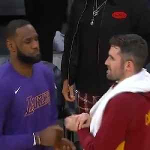 LeBron still remembers his handshakes with his former teammates Kevin Love and Tristan Thompson 🤝💥 [Video]