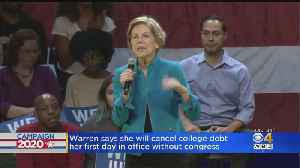 Elizabeth Warren Says She'll Cancel College Debt Without Awaiting Congress [Video]