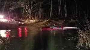 2 rescued after driving truck into water [Video]