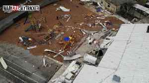 Aerial footage shows tornado damage to Brindlee Mountain Primary School in Marshall County [Video]