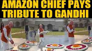 News video: Amazon Chief Jeff Bezos on a 3-day India visit, pays tribute at Rajghat | OneIndia News