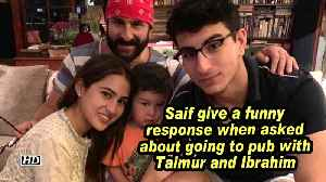 Saif give a funny response when asked about going to pub with Taimur and Ibrahim [Video]