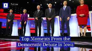 Top Moments From theDemocratic Debate in Iowa [Video]