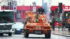 Tank driven through London to highlight pothole problem [Video]