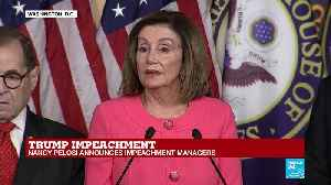 Nancy Pelosi addresses the press regarding the articles of impeachment on Donald Trump [Video]