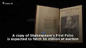 Shakespeare's First Folio: Rare 1623 collection expected to fetch $6m at auction [Video]