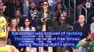 Kim Kardashian Denies Booing Tristan Thompson During Lakers Game [Video]
