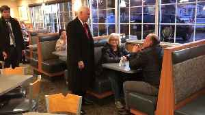 Vice President Mike Pence stopped by a local Culver's while in town [Video]