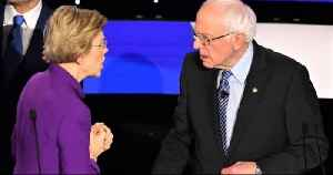 News video: Elizabeth Warren refuses to shake Bernie Sanders' hand after Democratic debate