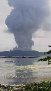 Ash Clouds Rise from Taal Volcano Eruption [Video]
