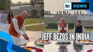 News video: Amazon founder Jeff Bezos pays tribute to Mahatma Gandhi on his visit to India